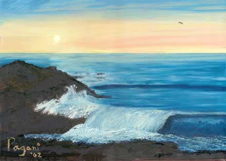 Boiler Bay #1, oil painting