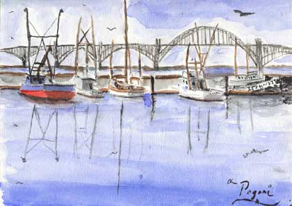 Oregon Series: Yaquina Bay Harbor and Bridge